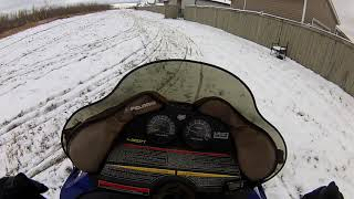 6. First skidoo ride of the season