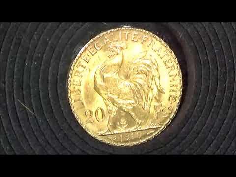 1910年發行法國金幣