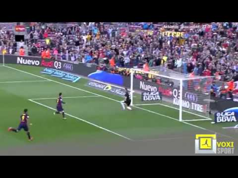 Barcelona - Getafe Messi First Panenka Goal From Penalty Kick