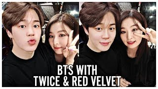 BTS WITH TWICE & RED VELVET Video