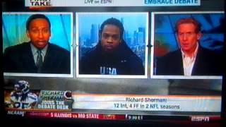Richard Sherman VS Skip Bayless (UNEDITED)