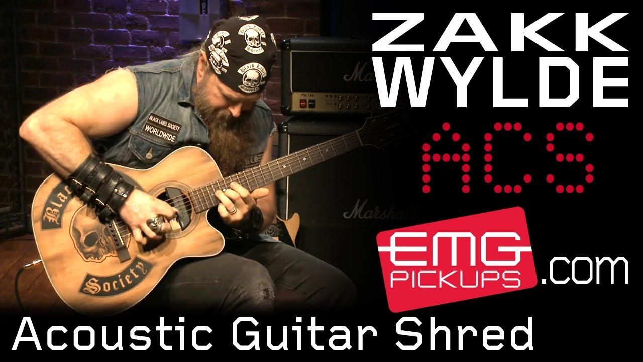 Zakk Wylde unbelievable acoustic guitar shred on EMGtv