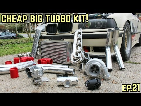 THE BIG TURBO KIT IS COMPLETE! : BMW E36 325i Drift Build Ep.21