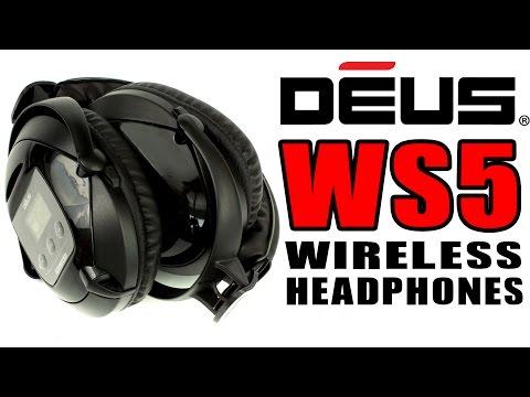WS5 Wireless Headphones for the DEUS XP Metal Detectors