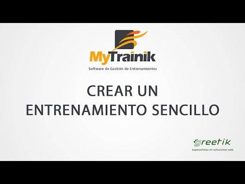 MyTrainik. Cómo crear un entrenamiento sencillo en el perfil de un usuario