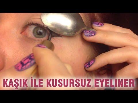 Kaşık İle Kusursuz Eyeliner