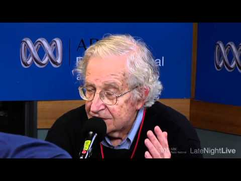 Noam Chomsky Late Night Live interview in Sydney with Philip Adams
