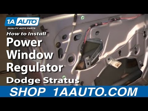 How To Install Replace Power Window Regulator Dodge Stratus 01-06 1AAuto.com
