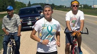 16-year-old Tracie Leost talks about her 4-day marathon to raise awareness about Canada's murdered and missing indigenous ...