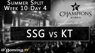 Samsung Galaxy vs KT Rolster - LCK Summer Split - Week 10 - Day 4 - SSG vs KT [FR]