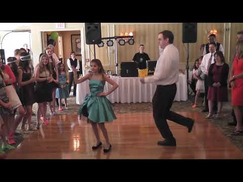 Father daughter dance-off
