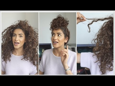 Curly hairstyles - My Signature Messy Curly Bun + Big Announcement !