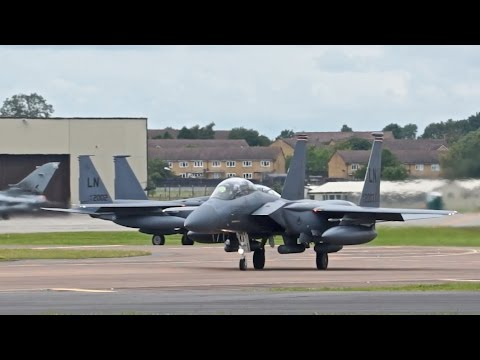 2 Boeing F-15E Strike Eagle from...