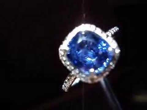 2.45 Blue Sapphire Halo Ring Micro setting