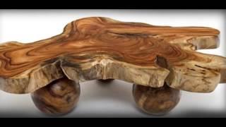 Самая красивая мебель получается из спилов дерева. Красота ее в натуральности. Такую мебель умельцы могут сделать своими руками. На нашем ролике представлены образцы очень красивой мебели из стволов дерева  и их спилов.