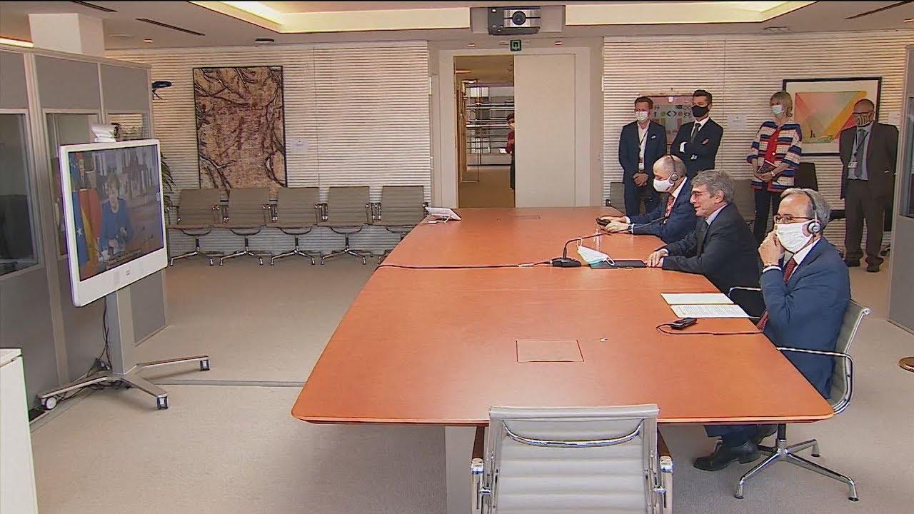 Τηλεδιάσκεψη του Νταβίντ Σασόλι με Ανγκελα Μέρκελ