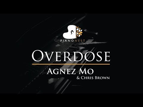 Agnez Mo & Chris Brown - Overdose - Piano Karaoke / Sing Along Cover With Lyrics