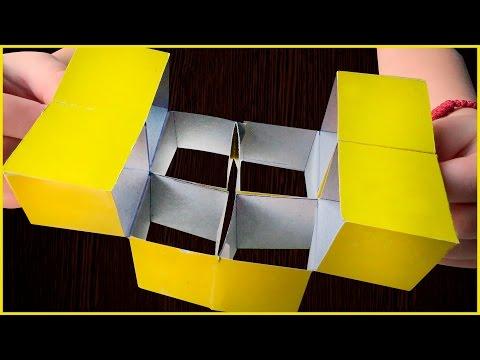 Как сделать головоломку из бумаги кубик