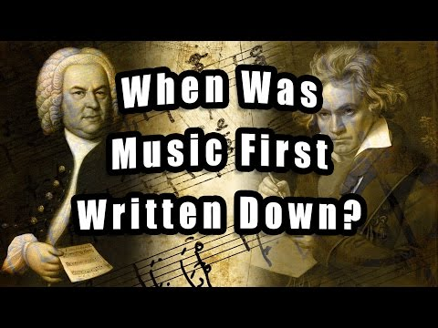 When Was Music First Written Down?