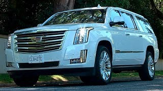 The Cadillac Escalade has become an icon in the auto industry as a status symbol, yet one that can really get the job done. With a large 6.2L V8 engine and magnetic ride control, this big full-size body-on-frame SUV delivered a stable ride and plenty of power. With 420hp, this big truck can rocket to 60mp/h in 6-seconds, yet achieve 11.7L/100km on the highway. With room for passengers over three-rows, the Cadillac Escalade ESV has more room thanks to a longer wheelbase and massive cargo area. The cargo space is 2.5 times larger than the regular Escalade and the third row has more legroom. The interior can be fitted with rich., soft leather that are heated, cooled and the front seats have a massaging function.The Cadillac Escalade makes a statement and the ESV is the boldest one yet.
