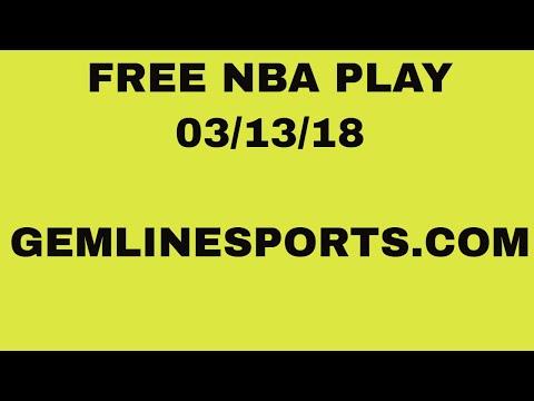 FREE NBA pick 03/13/18 10:35est