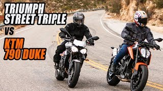 6. 2019 KTM 790 Duke vs Triumph Street Triple R Comparison