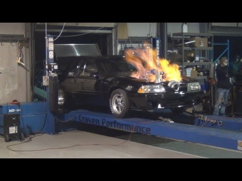 This Fox catches fire on the dyno while producing more than 1400 horsepower