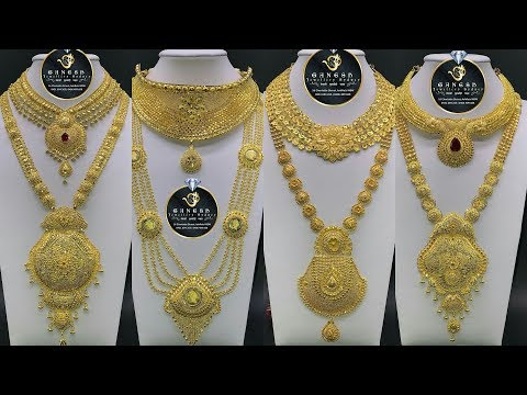 Latest Bridal Sets of Gold Necklace |Short and Long Necklaces Designs
