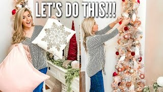 CHRISTMAS CLEAN AND DECORATE WITH ME PART 1 | CHRISTMAS DECOR 2019 HOME TOUR  |  Love Meg