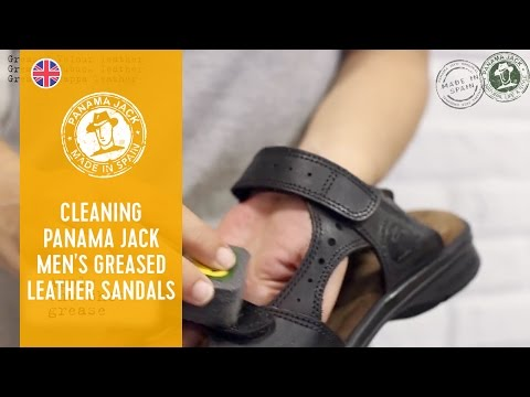 How To Clean Your Greased Leather Panama Jack Men's Sandals