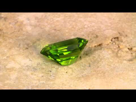 Gem Peridot Barion Emerald Cut Weighs 4.88 Carats