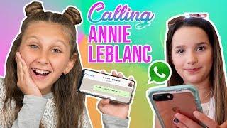 Video I tried to call ANNIE LEBLANC and it was embarrassing 😱 MP3, 3GP, MP4, WEBM, AVI, FLV November 2018