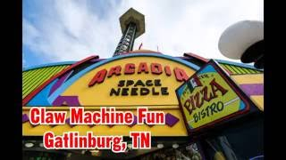 We found this really cool claw machine that has full size candy bars!  We were instantly hooked.  Check it out.  Arcadia Space Needle Arcade in Gatlinburg, Tennessee! PLEASE SUBSCRIBE!!!http://www.youtube.com/subscription_center?add_user=im14pinballFind Ninja Cooking system recipes here: http://EasyNinjaRecipes.comGet Cash Back when you shop online!http://www.ebates.com/rf.do?referrerid=IA2rxShzGMuEoUXkh%2FPF7g%3D%3D&eeid=28187