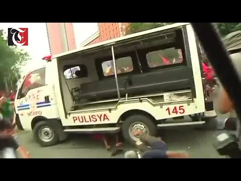 An anti-US protest turns violent in the Philippines