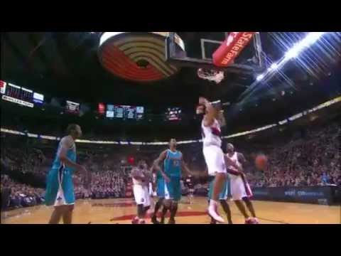 Felton to Batum Alley Oop Dunk against Hornets