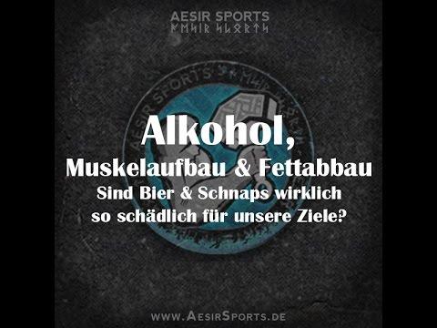 Alkohol, Muskelaufbau & Fettabbau – Wie schädlich ist es wirklich?