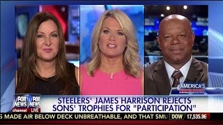 Steelers' James Harrison Rejects Sons' Trophies for