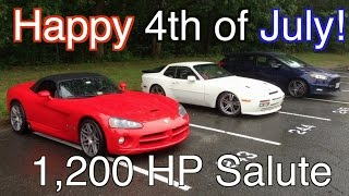 Happy 4th Of July ~ 1,200 Horsepower HP Salute To America!!!