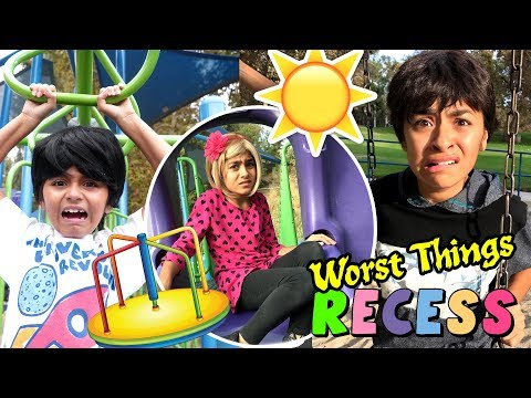 Worst Things Recess - Funny Playground Kids - Primary School Skits : SKETCH COMEDY // GEM Sisters