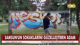 DUVARLARA GRAFFİTİ YAPMASI TEPKİ GÖRÜNCE İLGİNÇ BİR YÖNTEM BULDU
