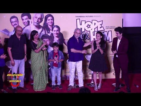 Naseeruddin Shah, Sonali Kulkarnee & Others Launch Trailer Of 'Hope Aur Hum'