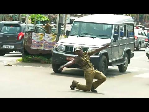 Tanzen gegen das Verkehrschaos in Indien