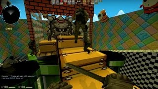 Counter Strike Global Offensive Zombie Escape mod online gameplay on ze_Mario_Tower_p_v3 map