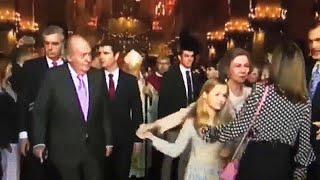 España atónita por el vídeo que muestra un forcejeo entre las reinas Letizia y Sofía