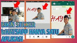 Video Cara Bikin Sticker Whatsapp Hanya Satu Aplikasi Dengan Foto Sendiri MP3, 3GP, MP4, WEBM, AVI, FLV November 2018