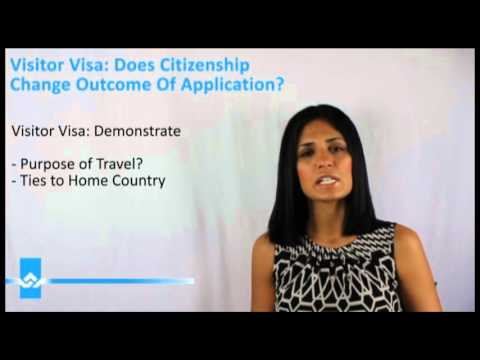 Visitor Visa Does Citizenship Change Outcome of Application Video