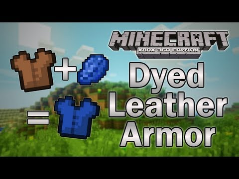 how to dye a leather tunic in minecraft xbox 360