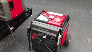 5. Honda EU7000is Inverter review at over full load on simulated load bank. Maximum load? Load review.
