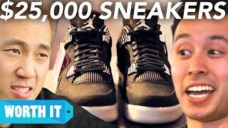 Video $100 Sneakers Vs. $25,000 Sneakers MP3, 3GP, MP4, WEBM, AVI, FLV Juni 2019