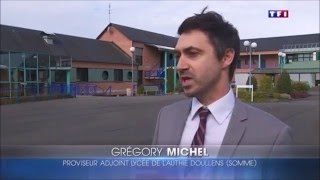 Reportage de TF1 au lycée de l'Authie